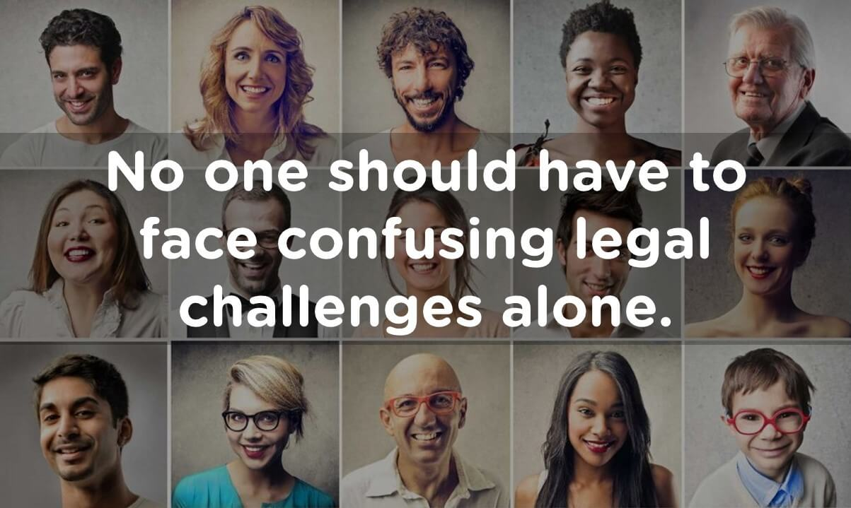 No one face legal challenges alone